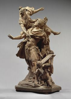 Venus Giving Arms to Aeneas, 1704  Jean Cornu (French, 1650-1710)  France (Paris)  Terracotta and painted wood