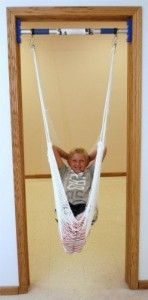 Rainy Day Indoor Support Bar w/ Therapy Net Swing...awesome for lots of indoor fun! Learn more here.