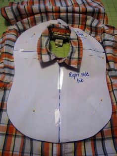 shirt bib diy with template