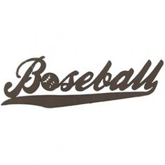 #Baseball Die Cut #TinSign. #Sports