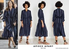 Crown Princess Mary wore a zigzag printed shirt dress by Apiece Apart. Crown Princess Mary, Princess Stephanie, Princess Estelle, Princess Charlene, Princess Madeleine, Crown Princess Victoria, Princesa Mary, Prince Frederick, Queen Margrethe Ii