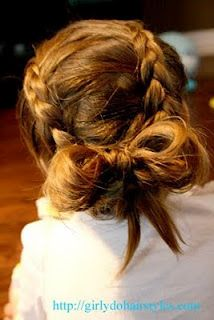 Can't wait to try this one when Emma's hair gets a little longer. Would also be cute for a flower girl...