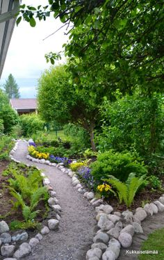 A new garden path and planting area