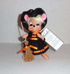 """New Annalee 6"""" MOUSE Halloween Witch Doll Black #Annalee #halloween"""