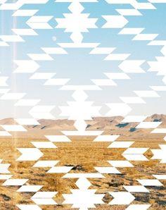Navajo landscape, visual art collage