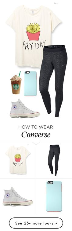 """""""Another day at school"""" by eadurbala08 on Polyvore featuring NIKE and Converse"""