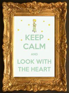 Rester calme et regarder avec le coeur Le Petit par TheCalmPress …