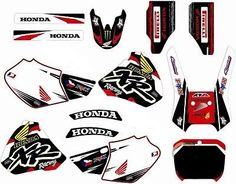 Honda Xr 400, XR400R Graphics decals!!!excellent quality, competition