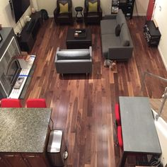 "American Walnut was featured in HGTV® Dream Home 2007 & HGTV Dream Home 2009! Check it out in this customer's home: ""Amazing looking floor. If you're looking for chocolate hues and variations in the boards - this is the hardwood to get."" – Eric, CA"