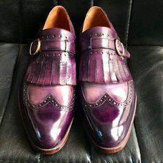 PAUL PARKMAN MEN'S WINGTIP MONKSTRAP BROGUES... | Men's Luxury Shoes by PAUL PARKMAN