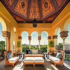 Hotel Alfonso XIII, Seville, Spain #hotelalfonsoxiii #sevilla #seville #sevillehotel #andalucia #moorish @hotelalfonsoxiii