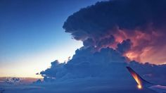 Lightning in Supercell - Supercell lightning photo taken form plane over the Warsaw - double glass window and lightning condition take most…