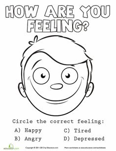 Emotions Coloring Sheet 5