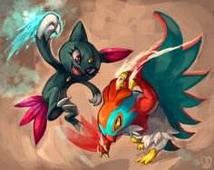 Pokemon : Hawlucha vs Sneasel by Sa-Dui