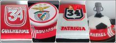 Exemplos de bolos do Clube Sport Lisboa e Benfica.