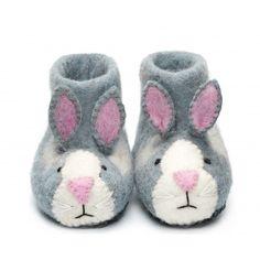 Rory Rabbit Felt Slippers - Sew Heart Felt