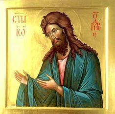 Christian Artwork, Byzantine Icons, John The Baptist, Orthodox Icons, The Beatles, Jesus Christ, Saints, Lord, Painting