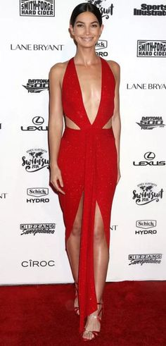 Lily Aldridge in Alexander Vauthier attends the Sports Illustrated Celebrates Swimsuit 2016 event. #bestdressed