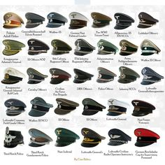 German military hats