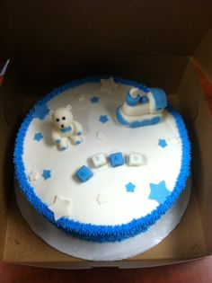 Beau's baby shower cake