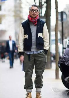 おしゃれメガネ, Urban Street Style, Tokyo, Men's Fall Winter Fashion.