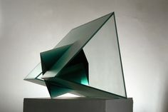 Ilja Bílek Czech Glass Art Cut, assembled and glued glass