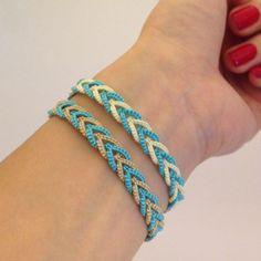 The Kim and I (Tatting Lace): Tatting Lace) Celtic Split ring bracelet