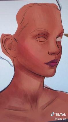 Digital Painting Tutorials, Digital Art Tutorial, Art Tutorials, Ipad Art, Digital Art Girl, Digital Portrait, Digital Art Beginner, Arte Sketchbook, Cool Art Drawings