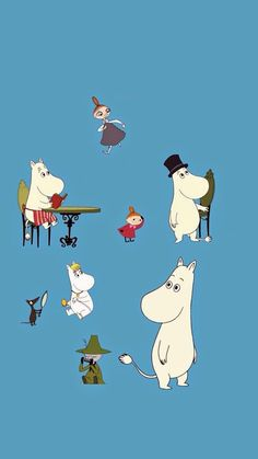 Wall Paper Android Vintage Definitions 61 New Ideas Moomin Wallpaper, Cartoon Wallpaper, Iphone Wallpaper, Moomin Valley, Tove Jansson, Contemporary Embroidery, Anime Japan, Little My, Hanging Art