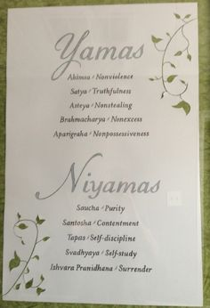 Yamas/Niyamas