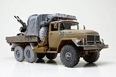 Ukrainian ZIL-131 & ZU-23, 1/35 scale. W.I.P. By Jorge Lopez. ICM Soviet Army Truck ZIL-131 + MENG MODEL ZU-23-2. #scale_model