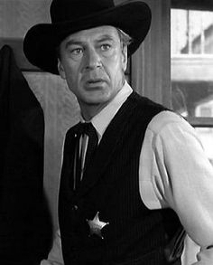 "Gary Cooper in ""High Noon"" (1952) The ultimate ""A man's gotta do what a man's gotta do"" film."