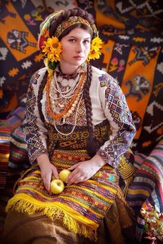 Ukrainian folklore is as beautiful as in other Slavic cultures, however what makes a difference now is a skilled group of Ukrainian photographers and stylist made the most amazing Slavic themed photo set ever. Folklore, Foto Fantasy, Ukraine Women, Ukrainian Art, Ukrainian Dress, Folk Clothing, Ethnic Dress, Folk Costume, Costumes