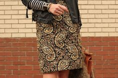 Quilted Paisley Silk Skirt