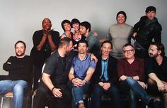 """Supernatural Cast- I love how Mark is in the corner. """"These stupid bloody Americans"""""""