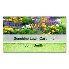 Landscaping lawn care mower business card template pinterest garden and landscape business card reheart Gallery