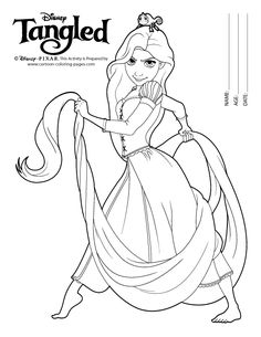 The Princess Rapunzel Coloring Sheets Tangled