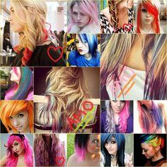 hair coloring . . .