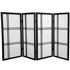 3 ft. Tall Double Cross Shoji Screen - OrientalFurniture.com