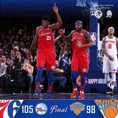 Interesting game to watch as it went up in down in the end but nonetheless a good win for the sixers #sixers #knicks #nba #basketball