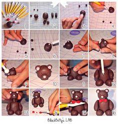 BlackBetty'sLab: Tutorial Teddy Bear Stuffed