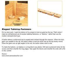 Elegant Tabletop Fasteners