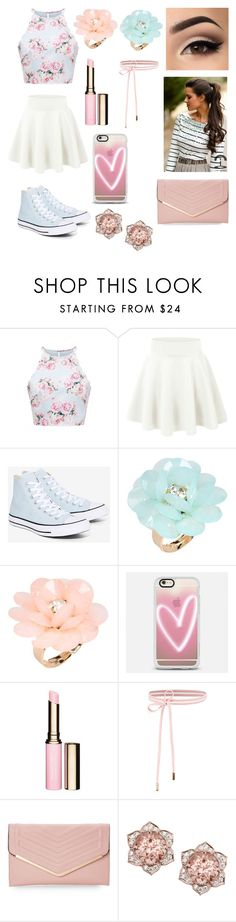 """Untitled #47"" by anacarolinamanzioli ❤ liked on Polyvore featuring Forever New, Converse, Dettagli, Casetify, Clarins and Sasha"