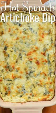 Hot Spinach Artichoke Dip is a favorite appetizer for any type of gathering. Whether we need an easy Thanksgiving appetizer or snacks for Super Bowl. Spinach Artichoke Dip is a creamy cheesy dip made… Appetizer Dips, Yummy Appetizers, Appetizers For Party, Appetizer Recipes, Easy Thanksgiving Appetizers, Spinach Appetizers, Party Dips, Dinner Recipes, Easy Dip Recipes
