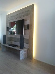 steigerhouten wand google zoeken - Tv Wand