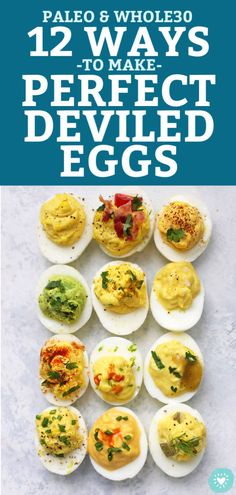 My Guide to Perfect Deviled Eggs - My FAVORITE method for deviled eggs plus 12 delicious flavor combinations! Paleo, gluten free and absolutely delicious. Deviled Eggs No Mayo, Paleo Deviled Eggs, Perfect Deviled Eggs, Egg Recipes, Paleo Recipes, Appetizer Recipes, Easter Appetizers, Paleo Appetizers, Easter Recipes