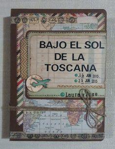 Diario de Viaje scrapbooking, mini album. Clavelina Scrap