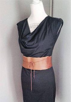 Ceinture obi serre taille corset femmes en cuir marron, ceinture camel mode  boho vintage femmes 0ae2243e261