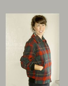 ON SALE 1950s plaid wool lumberjack coat by FiregypsyVintage, $137.87