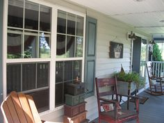 primitive porches | ... with our members' porches and patios,all decorated and in full bloom